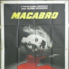 Cine: QJ89 MACABRO LAMBERTO BAVA POSTER ORIGINAL ITALIANO 140X200. Lote 41458284