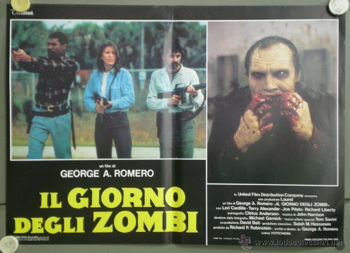 QJ94 EL DIA DE LOS MUERTOS GEORGE A. ROMERO SET 8 POSTERS ORIGINAL ITALIANO 47X68 (Cine - Posters y Carteles - Terror)