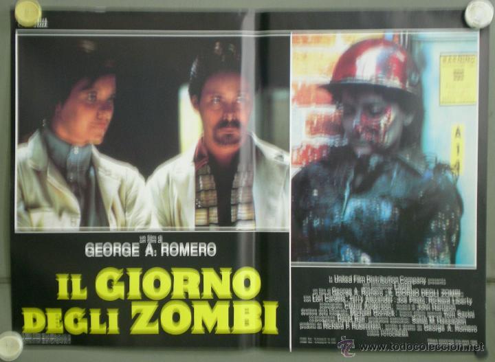 Cine: QJ94 EL DIA DE LOS MUERTOS GEORGE A. ROMERO SET 8 POSTERS ORIGINAL ITALIANO 47X68 - Foto 2 - 105129722