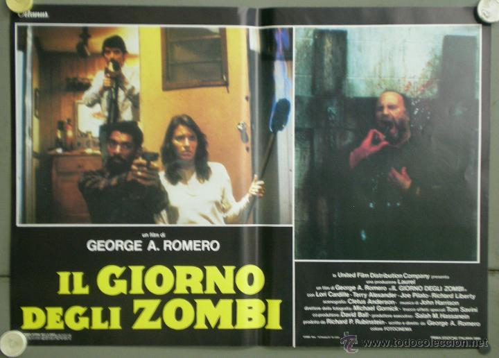 Cine: QJ94 EL DIA DE LOS MUERTOS GEORGE A. ROMERO SET 8 POSTERS ORIGINAL ITALIANO 47X68 - Foto 3 - 105129722