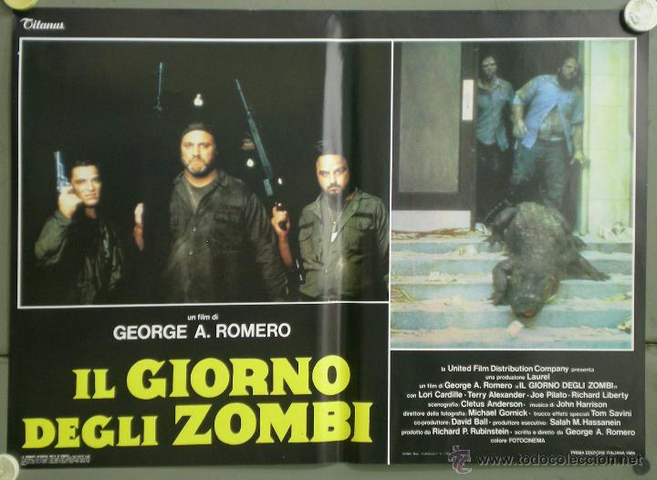 Cine: QJ94 EL DIA DE LOS MUERTOS GEORGE A. ROMERO SET 8 POSTERS ORIGINAL ITALIANO 47X68 - Foto 4 - 105129722