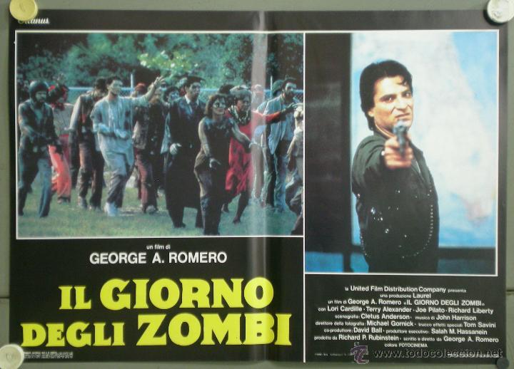 Cine: QJ94 EL DIA DE LOS MUERTOS GEORGE A. ROMERO SET 8 POSTERS ORIGINAL ITALIANO 47X68 - Foto 6 - 105129722