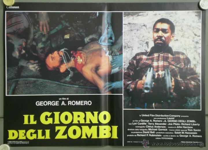 Cine: QJ94 EL DIA DE LOS MUERTOS GEORGE A. ROMERO SET 8 POSTERS ORIGINAL ITALIANO 47X68 - Foto 7 - 105129722