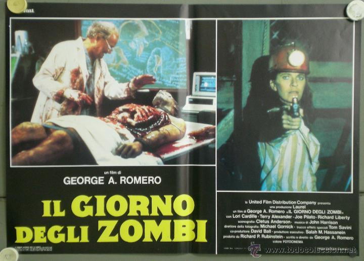 Cine: QJ94 EL DIA DE LOS MUERTOS GEORGE A. ROMERO SET 8 POSTERS ORIGINAL ITALIANO 47X68 - Foto 8 - 105129722