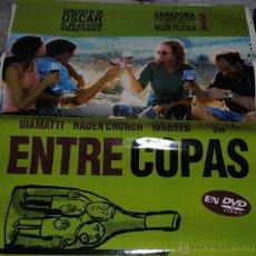Cine: CARTEL DE CINE ORIGINAL DE LA PELÍCULA ENTRE COPAS, 70 POR 100CM. Lote 41080025