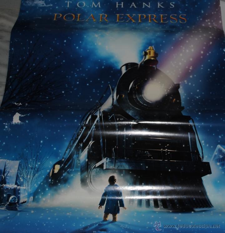 CARTEL DE CINE ORIGINAL DE LA PELÍCULA TOM HANKS POLAR EXPRESS, 70 POR 100CM (Cine - Posters y Carteles - Ciencia Ficción)