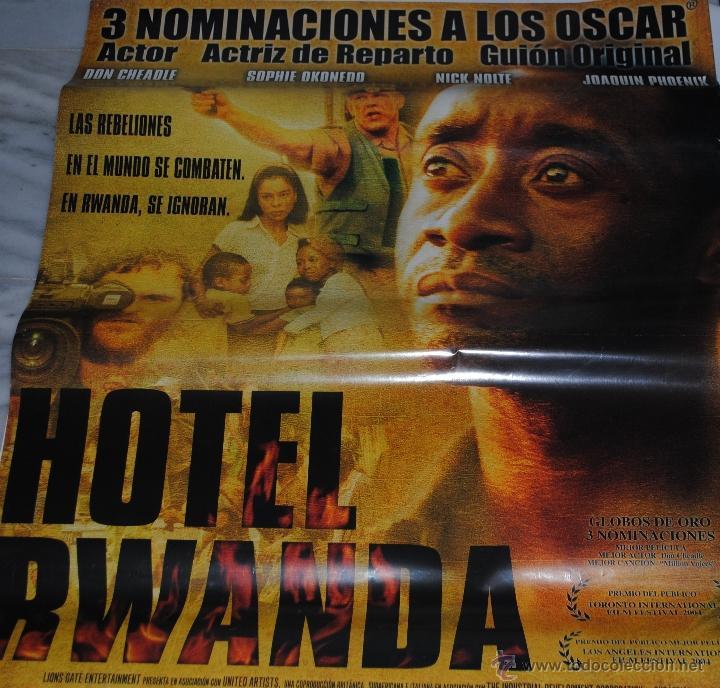 CARTEL DE CINE ORIGINAL DE LA PELÍCULA HOTEL RUANDA, 70 POR 100CM (Cine- Posters y Carteles - Drama)
