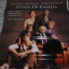Cine: CARTEL DE CINE ORIGINAL DE LA PELÍCULA COSAS DE FAMILIA, MICHAEL DOUGLAS, 70 POR 100CM. Lote 41080332