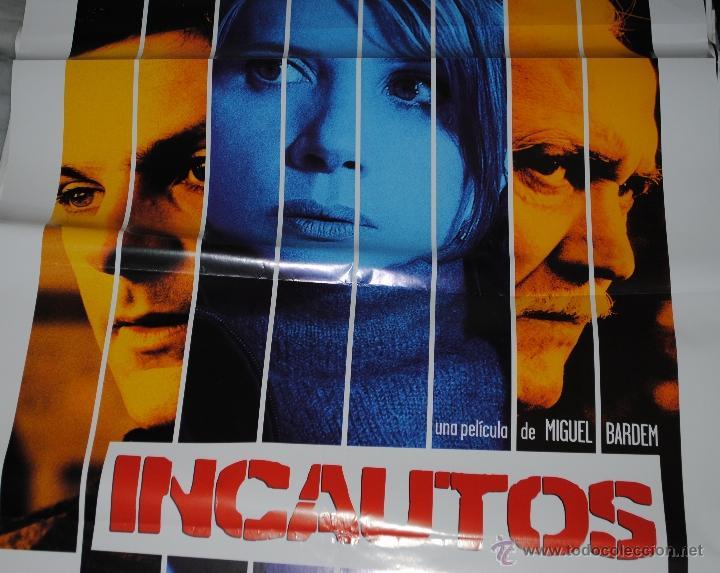 CARTEL DE CINE ORIGINAL DE LA PELÍCULA INCAUTOS, 70 POR 100CM (Cine - Posters y Carteles - Suspense)