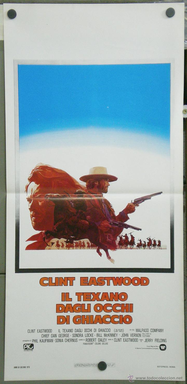 QK18 EL FUERA DE LA LEY CLINT EASTWOOD POSTER ORIGINAL ITALIANO 33X70 (Cine - Posters y Carteles - Westerns)