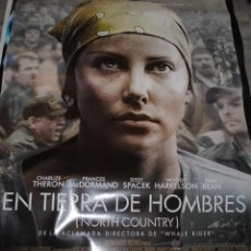 Cine: CARTEL DE CINE ORIGINAL DE LA PELÍCULA EN TIERRA DE HOMBRES, CHARLIZE THERON, 70 POR 100CM. Lote 41098751