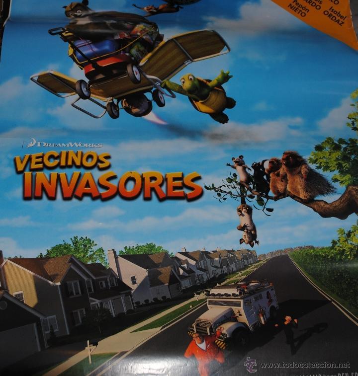CARTEL DE CINE ORIGINAL DE LA PELÍCULA VECINOS INVASORES, 70 POR 100CM (Cine - Posters y Carteles - Infantil)