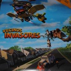 Cine: CARTEL DE CINE ORIGINAL DE LA PELÍCULA VECINOS INVASORES, 70 POR 100CM. Lote 41098978