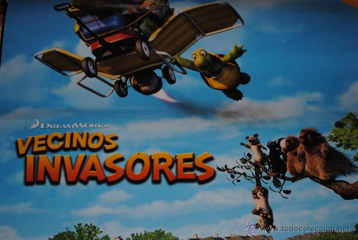 Cine: CARTEL DE CINE ORIGINAL DE LA PELÍCULA VECINOS INVASORES, 70 POR 100CM - Foto 2 - 41098978
