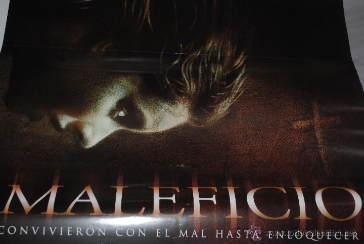 Cine: CARTEL DE CINE ORIGINAL DE LA PELÍCULA MALEFICIO, 70 POR 100CM - Foto 2 - 41099224