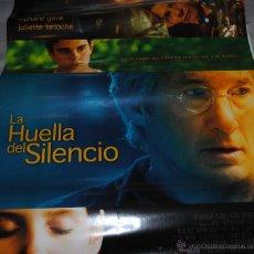 Cine: CARTEL DE CINE ORIGINAL DE LA PELÍCULA LA HUELLA DEL SILENCIO, RICHARD GERE, 70 POR 100CM. Lote 41099559