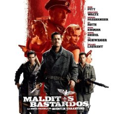 Cinéma: CARTEL DE CINE MALDITOS BASTARDOS BRAD PITT // ORIGINAL TAMAÑO 70X100. Lote 41107603