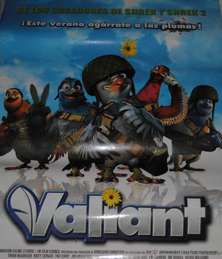 CARTEL DE CINE ORIGINAL DE LA PELÍCULA VALIANT, 70 POR 100CM (Cine - Posters y Carteles - Infantil)