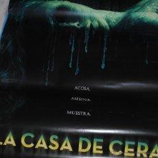 Cine: CARTEL DE CINE ORIGINAL DE LA PELÍCULA LA CASA DE CERA, 70 POR 100CM. Lote 41126091
