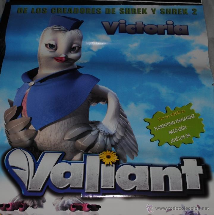 CARTEL DE CINE ORIGINAL DE LA PELÍCULA VALIANT, VICTORIA, 70 POR 100CM (Cine - Posters y Carteles - Infantil)