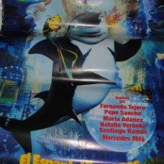 Cine: CARTEL DE CINE ORIGINAL DE LA PELÍCULA EL ESPANTANTIBURONES, 70 POR 100CM. Lote 41127120