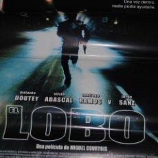 Cine: CARTEL DE CINE ORIGINAL DE LA PELÍCULA EL LOBO, EDUARDO NORIEGA, 70 POR 100CM. Lote 41132680