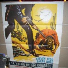 Cine: EL VALOR DE UN COBARDE STEVEN TEDD LEON KLIMOVSKY SPAGHETTI POSTER ORIGINAL 70X100 YY (261). Lote 41151680