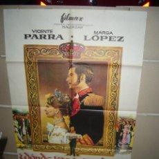Cine: DONDE VAS TRISTE DE TI VICENTE PARRA MARGA LOPEZ POSTER ORIGINAL 70X100 YY(266). Lote 41165267