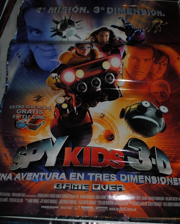 CARTEL DE CINE ORIGINAL DE LA PELÍCULA SPY KIDS 3D, 3 MISIÓN, 3 DIMENSIÓN, 70 POR 100CM (Cine - Posters y Carteles - Infantil)