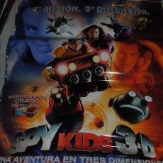 Cine: CARTEL DE CINE ORIGINAL DE LA PELÍCULA SPY KIDS 3D, 3 MISIÓN, 3 DIMENSIÓN, 70 POR 100CM. Lote 41168143