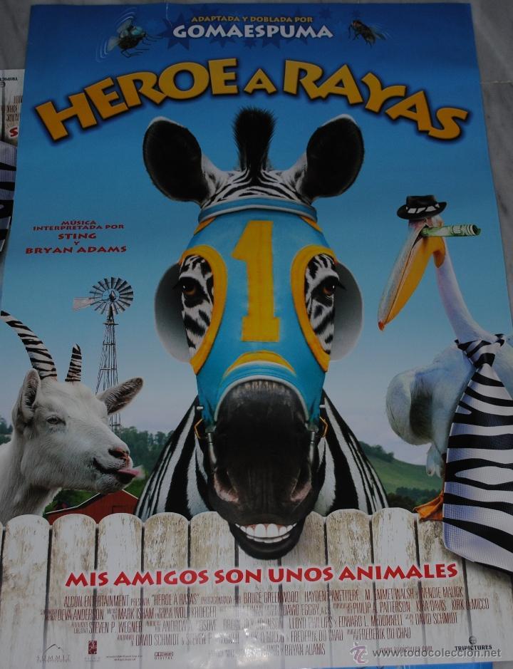 CARTEL DE CINE ORIGINAL DE LA PELÍCULA HÉROE A RAYAS, MIS AMIGOS SON ANIMALES, 70 POR 100CM (Cine - Posters y Carteles - Infantil)