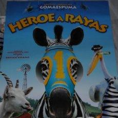 Cine: CARTEL DE CINE ORIGINAL DE LA PELÍCULA HÉROE A RAYAS, MIS AMIGOS SON ANIMALES, 70 POR 100CM. Lote 41169930