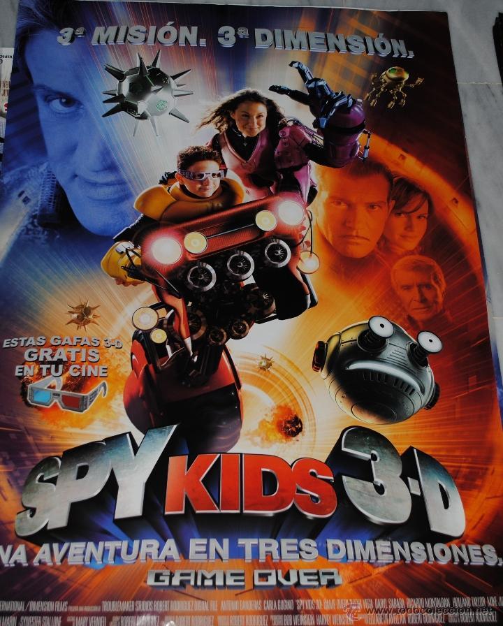 CARTEL DE CINE ORIGINAL DE LA PELÍCULA SPY KIDS 3D, 70 POR 100CM (Cine - Posters y Carteles - Infantil)