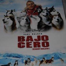 Cine: CARTEL DE CINE ORIGINAL DE LA PELÍCULA BAJO CERO, PAUL WALKER, 70 POR 100CM. Lote 161841212