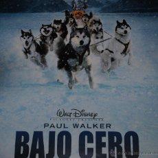Cine: CARTEL DE CINE ORIGINAL DE LA PELÍCULA BAJO CERO, PAUL WALKER, 70 POR 100CM. Lote 55387967