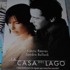 Cine: CARTEL DE CINE ORIGINAL DE LA PELÍCULA LA CASA DEL LAGO, SANDRA BULLOCK, KEANU REEVES, 70X100CM. Lote 45014486