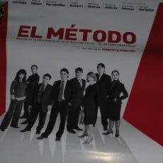 Cinema: CARTEL DE CINE ORIGINAL DE LA PELÍCULA EL MÉTODO, DE MARCELO PIÑEYRO, 70X100CM. Lote 41172874