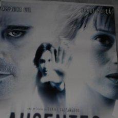 Cine: CARTEL DE CINE ORIGINAL DE LA PELÍCULA AUSENTES, JORDI MOLLÁ, ARIADNA GIL, 70X100CM. Lote 41173891