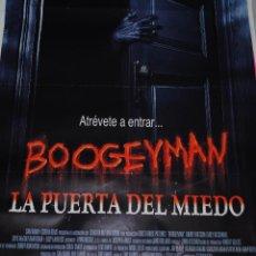 Cine: CARTEL DE CINE ORIGINAL DE LA PELÍCULA BOOGEYMAN, LA PUERTA DEL MIEDO, 70X100CM. Lote 41174838