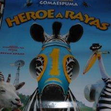 Cine: CARTEL DE CINE ORIGINAL DE LA PELÍCULA HÉROE A RAYAS, MIS AMIGOS LOS ANIMALES, 70X100CM. Lote 41177700