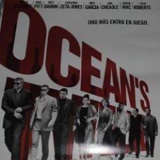 Cine: CARTEL DE CINE ORIGINAL DE LA PELÍCULA OCEAN´S TWELVE, 70 POR 100CM. Lote 41210185