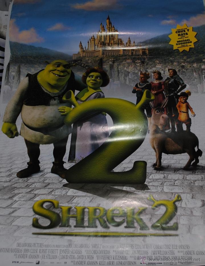 CARTEL DE CINE ORIGINAL DE LA PELÍCULA SHREK 2, 70 POR 100CM (Cine - Posters y Carteles - Infantil)