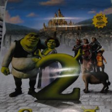 Cine: CARTEL DE CINE ORIGINAL DE LA PELÍCULA SHREK 2, 70 POR 100CM. Lote 41210885