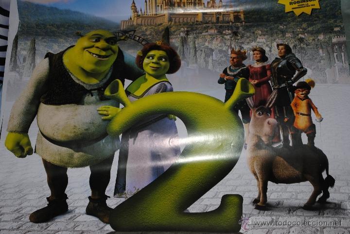 Cine: CARTEL DE CINE ORIGINAL DE LA PELÍCULA SHREK 2, 70 POR 100CM - Foto 2 - 41210885