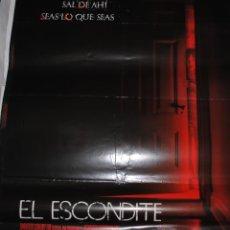 Cine: CARTEL DE CINE ORIGINAL DE LA PELÍCULA EL ESCONDITE, 70 POR 100CM. Lote 41211615