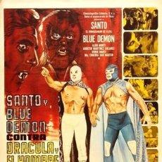 Cine: SANTO ENMASCARADO DE PLATA Y BLUE DEMON CONTRA DRACULA Y EL HOMBRE LOBO-PERFECTO ESTADO-. Lote 41248627