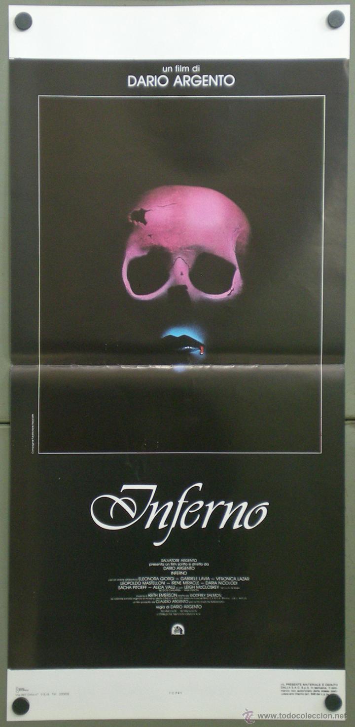 QI32 INFERNO DARIO ARGENTO ELEONORA GIORGI POSTER ORIGINAL ITALIANO 33X70 (Cine - Posters y Carteles - Terror)