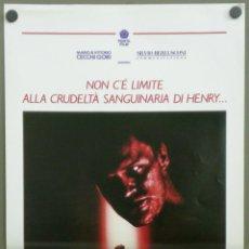 Cine: QI34 HENRY RETRATO DE UN ASESINO JOHN MCNAUGHTON MICHAEL ROOKER POSTER ORIGINAL ITALIANO 33X70. Lote 41283103