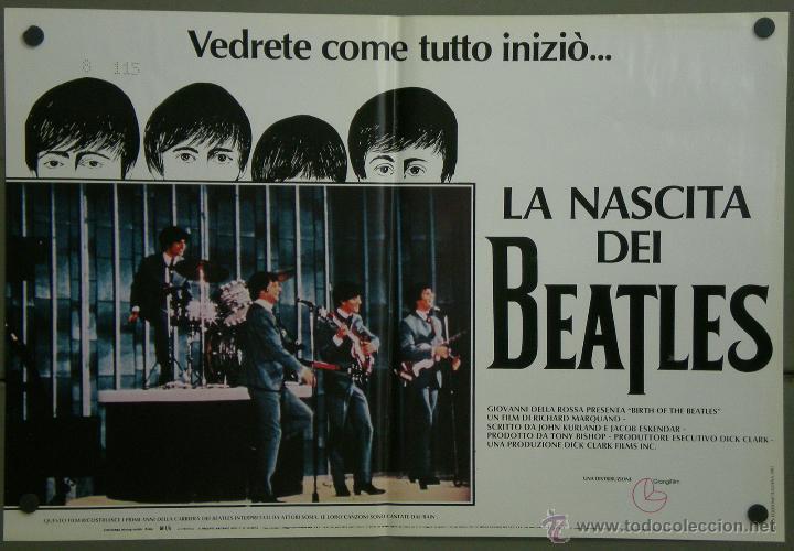 QH71 EL NACIMIENTO DE LOS BEATLES THE BEATLES SET 6 POSTERS ORIGINAL ITALIANO 47X68 (Cine - Posters y Carteles - Musicales)