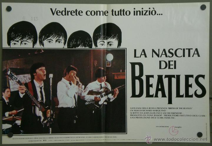 Cine: QH71 EL NACIMIENTO DE LOS BEATLES THE BEATLES SET 6 POSTERS ORIGINAL ITALIANO 47X68 - Foto 2 - 41284933